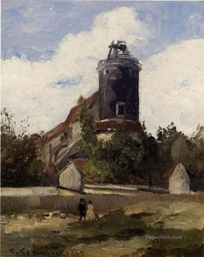 Camille Pissarro Painting - the telegraph tower at montmartre 1863 Camille Pissarro