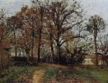 trees on a hill autumn landscape in louveciennes 1872 Camille Pissarro