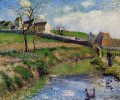 view of a farm in osny 1883 Camille Pissarro