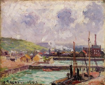 View Art - view of duquesne and berrigny basins in dieppe 1902 Camille Pissarro