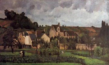 View Art - view of l hermitage at pontoise 1867 Camille Pissarro
