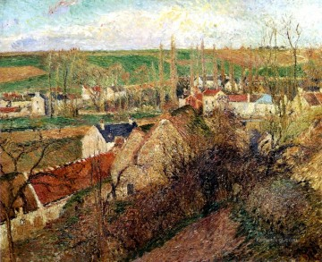 1883 Works - view of osny near pontoise 1883 Camille Pissarro