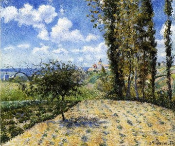 spring art - view towards pontoise prison in spring 1881 Camille Pissarro