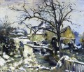 winter at montfoucault 2 1875 Camille Pissarro