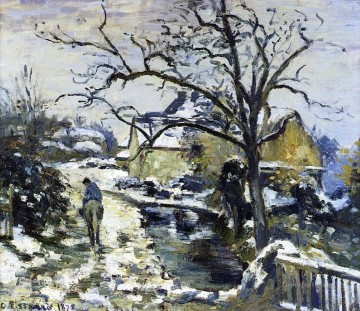 winter at montfoucault 2 1875 Camille Pissarro Oil Paintings