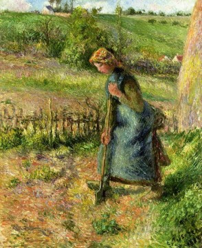 1883 Works - woman digging 1883 Camille Pissarro
