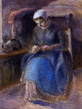 woman sewing 1881 Camille Pissarro Oil Paintings