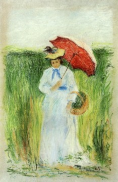 young woman with an umbrella Camille Pissarro Oil Paintings