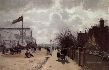 London Art - The Crystal Palace London Camille Pissarro