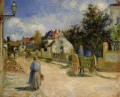 a street in pontoise 1879 Camille Pissarro