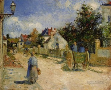 a street in pontoise 1879 Camille Pissarro Oil Paintings