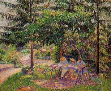children in a garden at eragny 1897 Camille Pissarro Oil Paintings