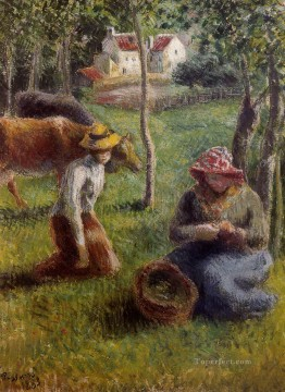 1883 Works - cowherd 1883 Camille Pissarro