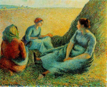 Make Art - haymakers resting 1891 Camille Pissarro