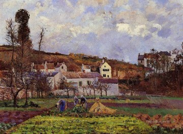 Chen Oil Painting - kitchen gardens at l hermitage pontoise 1873 Camille Pissarro
