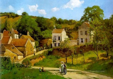 l hermitage at pontoise Camille Pissarro Oil Paintings