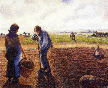 peasants in the field eragny 1890 Camille Pissarro Oil Paintings