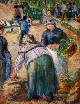 potato market boulevard des fosses pontoise 1882 Camille Pissarro Oil Paintings