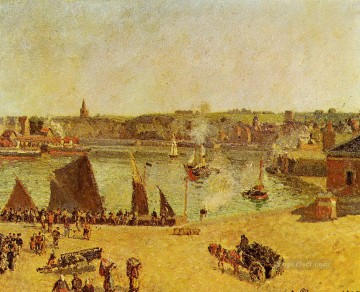 the inner harbor dieppe 1902 Camille Pissarro Oil Paintings