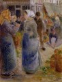 the market Camille Pissarro