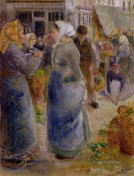 the market Camille Pissarro Oil Paintings