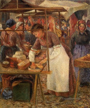 1883 Works - the pork butcher 1883 Camille Pissarro