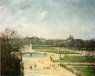 1900 Works - the tuileries gardens afternoon sun 1900 Camille Pissarro