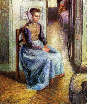 young flemish maid Camille Pissarro Oil Paintings