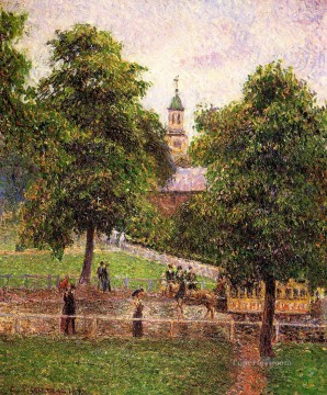 Camille Pissarro Painting - church at kew 1892 Camille Pissarro