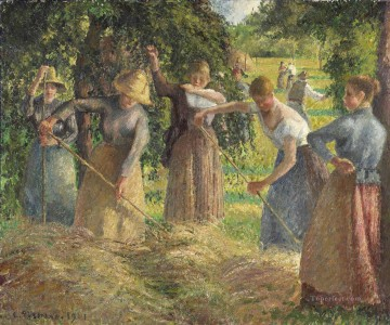 haymaking in eragny 1901 Camille Pissarro Oil Paintings