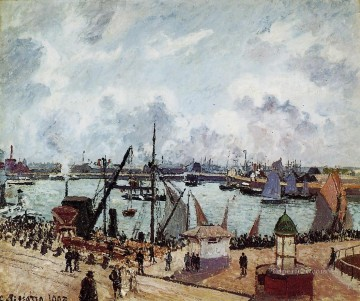 Harbour Painting - outer harbour of le havre 1903 Camille Pissarro