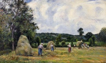 autumn or the grape harvest Painting - the harvest at montfoucault 2 1876 Camille Pissarro