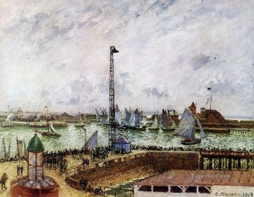 the pilot s jetty le havre 1903 Camille Pissarro Oil Paintings