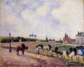 the pontoise bridge 1891 Camille Pissarro