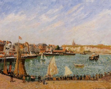 Camille Pissarro Painting - afternoon sun the inner harbor dieppe 1902 Camille Pissarro