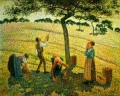 apple picking at eragny sur epte 1888 Camille Pissarro