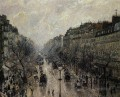 boulevard montmartre foggy morning 1897 Camille Pissarro