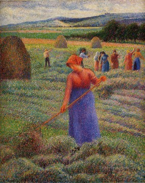 Make Art - haymakers at eragny 1889 Camille Pissarro