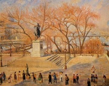 square du vert galant sunny morning 1902 Camille Pissarro Oil Paintings