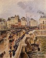 the pont neuf rainy afternoon 1901 Camille Pissarro