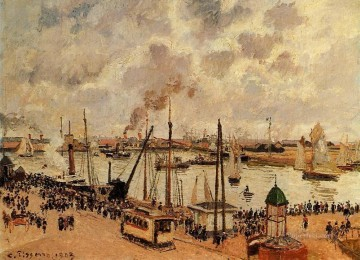 Camille Pissarro Painting - the port of le havre 1903 Camille Pissarro