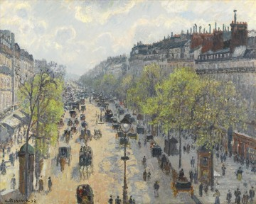 1897 Painting - boulevard montmartre spring 1897 Camille Pissarro