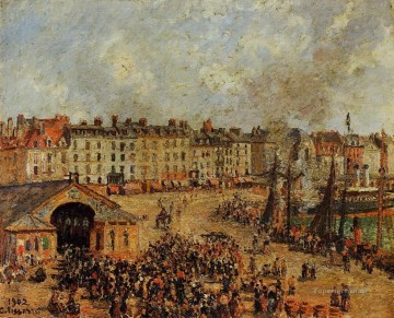 the fishmarket dieppe 2 1902 Camille Pissarro Oil Paintings