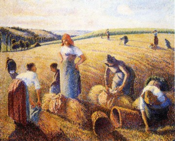 Camille Pissarro Painting - the gleaners 1889 Camille Pissarro