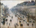 boulevard montmartre winter morning 1897 Camille Pissarro