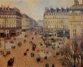 place du theatre francais afternoon sun in winter 1898 Camille Pissarro