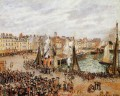 the fishmarket dieppe grey weather morning 1902 Camille Pissarro