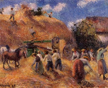 1883 Works - the harvest 1883 Camille Pissarro