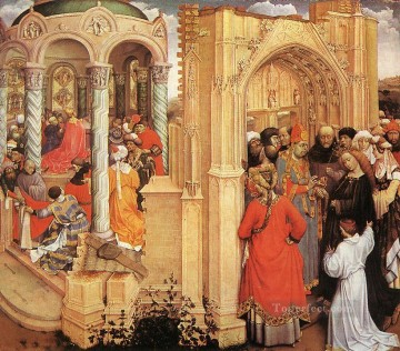 Robert Campin Painting - The Marriage Of Mary Robert Campin