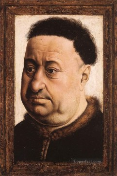Portrait Of A Fat Man Robert Campin Oil Paintings